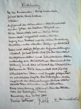 Gründungserklärung Entwurf