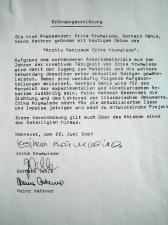 Gründungserklärung Vereinbarung