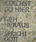 Grabstele Inschrift